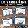 Le verbe être - Cartes à tâches