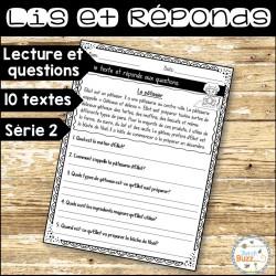 Lis et réponds - Textes et questions - Série 2