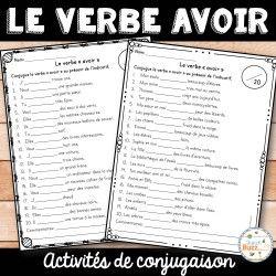 """Le verbe """"avoir"""" - activités"""