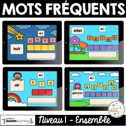 Mots fréquents - Niveau 1 - Cartes Boom - Ensemble