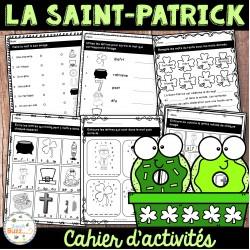 La Saint-Patrick - Cahier d'activités