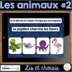 Lis et choisis - Les animaux #2 - Cartes Boom
