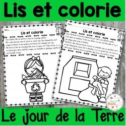 Lis et colorie - Jour de la Terre