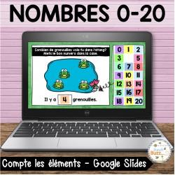 Nombres 1-20 - Combien d'éléments vois-tu?