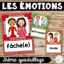 Les émotions - Affiches - Quadrillage