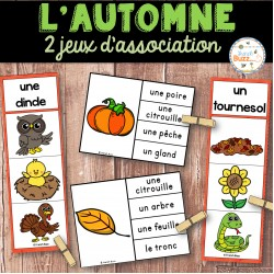 L'automne - Ensemble 2 jeux d'association