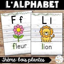 L'alphabet - Affiches - bois plantes - épuré
