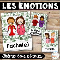 Les émotions - Affiches - Bois plantes - épuré