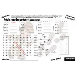 Mots cachés - Révision des verbes au PRÉSENT