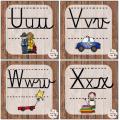 Alphabet mur de mots