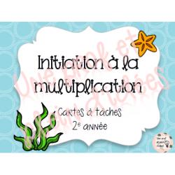 Cartes à tâches - Initiation multiplication