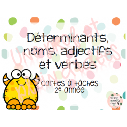 Cartes à tâches - Classes de mots