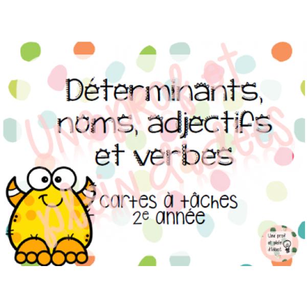 Cartes à tâches - Classes de mots