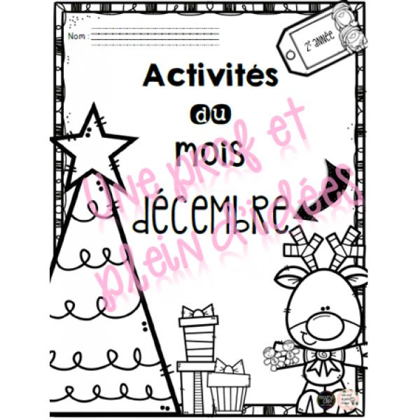 Activités du mois de décembre 2e année