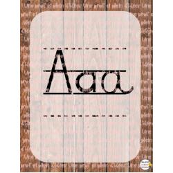 Alphabet rustique sans images