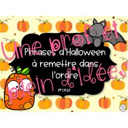 Phrases mélangées - Halloween