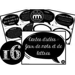 Cartes d'idées : Jeux de mots et de lettres