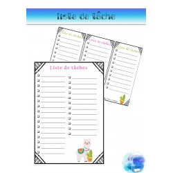 Liste de tâches (To do List) -Cactus & Alpagas