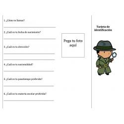 Carte d'identité en espagnol