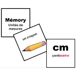 Mémory unités de mesures