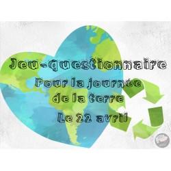 Jeu-questionnaire *Journée de la terre*