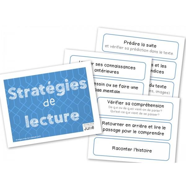 Affiches des stratégies de lecture