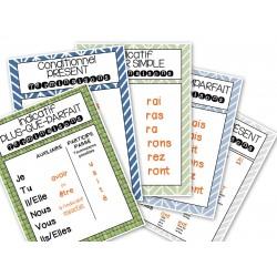 Affiches des terminaisons de verbes à l'étude