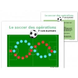 Soccer des opérations mathématiques - 3e cycle