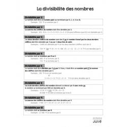 La divisibilité des nombres