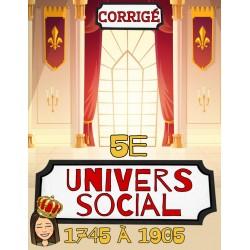 Corrigé: cahier univers social 5e
