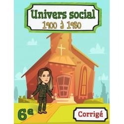 Corrigé: univers social 6e année