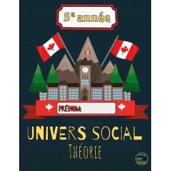 Théorie univers social: 5e année