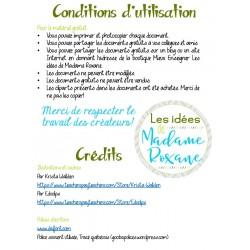 Conditions d'utilisation et crédits