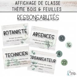 Responsabilités - Thème Bois & Feuilles