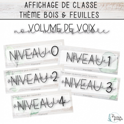 Volume de voix - Thème Bois & Feuilles