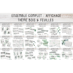 Ensemble Complet - Thème Bois & Feuilles
