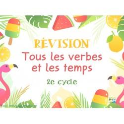 Révision des verbes et temps au 2e cycle