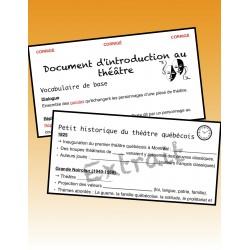 Introduction au théâtre québécois