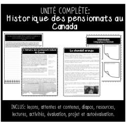 """UNITÉ COMPLÈTE: Les pensionnats (6e année)"""""""