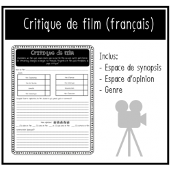 ACTIVITÉ DISTANCE: Critique de film (écriture)
