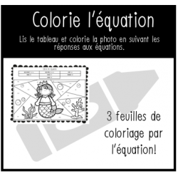 Colorie les photos (activité de mathématique)