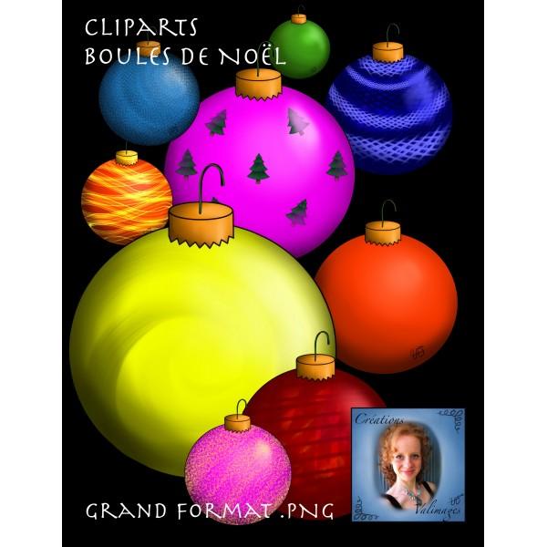 Cliparts - Boules de Noël