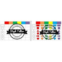 Tableau à double entrée forme/couleur
