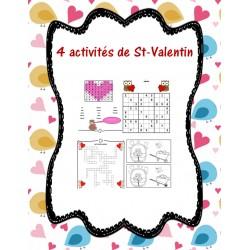 4 activités de St-Valentin