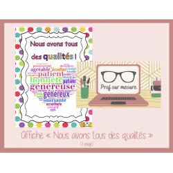 Affiche qualités
