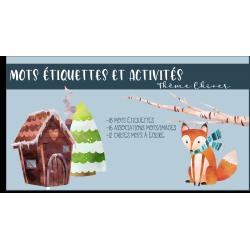 Mots étiquettes et activités hiver