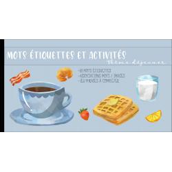 Mots étiquettes et activités déjeuner