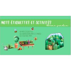 Mots étiquettes et activités jardin