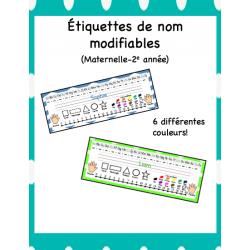 Étiquettes de nom modifiables (M-2)