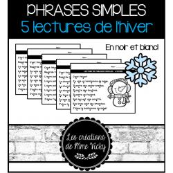 Lecture de phrases simples - Hiver